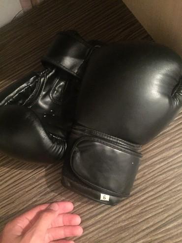 Перчатки - Кыргызстан: Кикбоксерские перчатки Размер: 6  Кожаные  Состояние идеальное