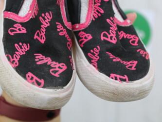 Детская обувь - Черный - Киев: Мокасины для девочки Barbie, р. 24    Бренд: Barbie  Цвет: черный с ро