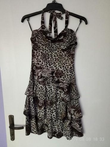 Haljina sa leopard printom, odlično stoji, prati liniju tela, vel. - Zrenjanin