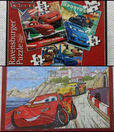 Puzzle - Srbija: 4 puzle (slagalice) Cars - Automobili, Dizni Piksar* Ravensburger
