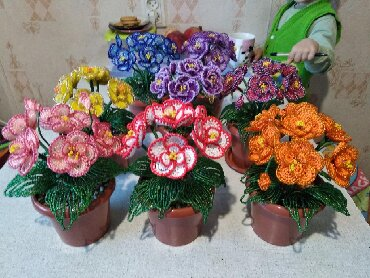 флорариумы на в Кыргызстан: Продаю цветы и деревья из бисераотличный подарок на день рождение и