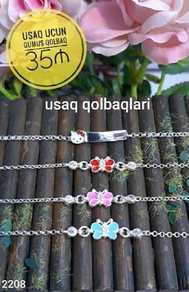 uşaqlar üçün termo kolqotlar - Azərbaycan: Gumus Qolbaq Usaq ucun - 35 ₼