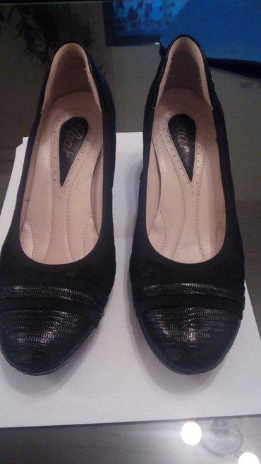 Ženska obuća | Gornji Milanovac: Zenske kozne paar crne cipele, nove jednom nosene, udobne, broj