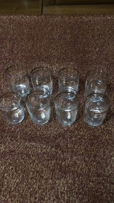 Стеклянные стаканы - Кыргызстан: Стаканы для водки  8 шт  Цена за комплект