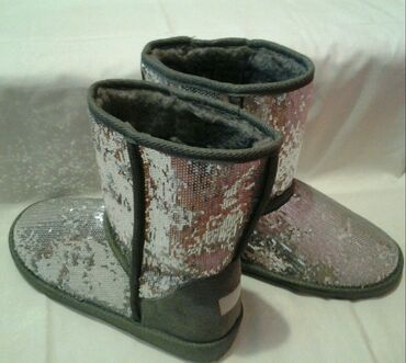 Cizme za sneg - Srbija: SNIŽENOOO!!! NOVO!!! DIFFERENTE sive topele cizme br.39 duzina