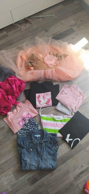 махровые халаты бишкек in Кыргызстан | ПЛАТЬЯ: Пакет вещей на девочку 7-9 лет в пакете : жилет меховой новый