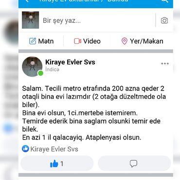 ev kirayesi - Azərbaycan: Mənzil kirayə verilir: 2 otaqlı, 20 kv. m, Bakı