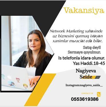 kişilər üçün iş elanları in Azərbaycan | DIGƏR IXTISASLAR: Online pul qazanmağı öyrədirəm✓500 aznyalniz xanimlar üçüni̇ş telefon