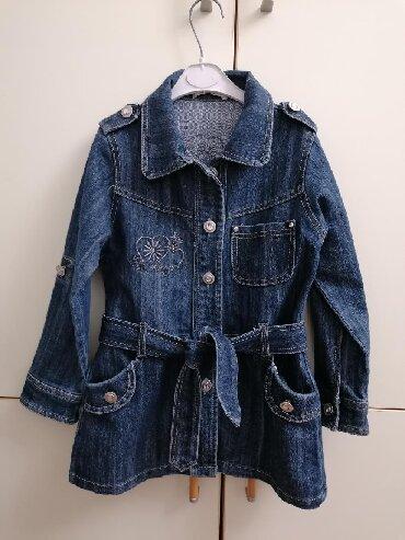Dečije jakne i kaputi - Vrsac: Teksas jakna mantilic, vel 6, kao nov