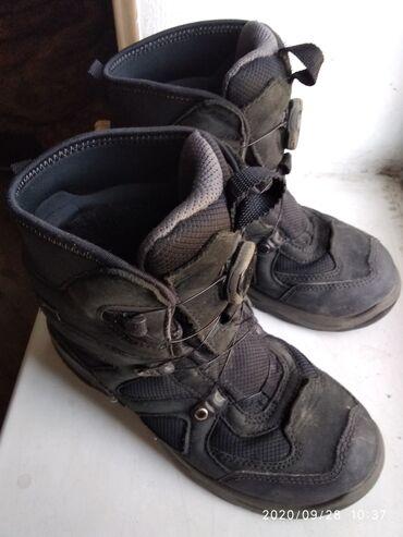 Детская обувь - Кыргызстан: Зим.сапоги утеп.фирмаб/у,на мальчика р.33