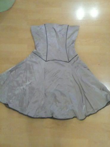 Svecana haljina kvalitetna.vel.XL.64%pamuk,25%najlon i 11%lan.Ostecena - Bajina Basta