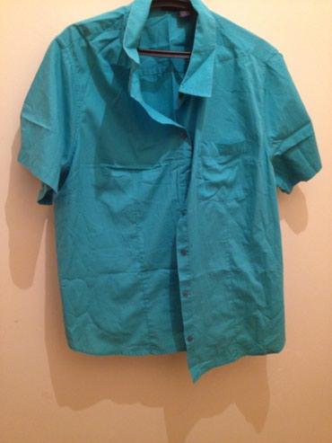 женские рубашки в клетку в Азербайджан: Рубашка зеленая 50-52