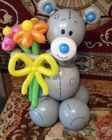 гипсовые фигуры бишкек в Кыргызстан: Подарки Шарики Мишки Зайчики цифры из шаров шары Фигуры из шаров цветы