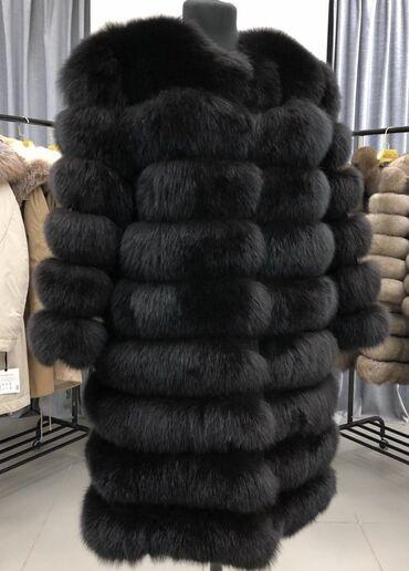 трикотажное платье без рукавов в Кыргызстан: Продаётся песцовая шуба. Натуральный мех. Абсолютно новая. Цвет темный