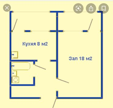 смартфоны 5 1 5 5 в Кыргызстан: Продается квартира: 1 комната, 36 кв. м