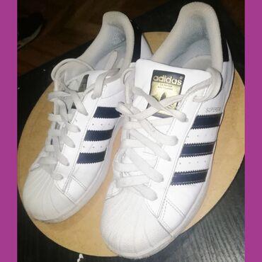 Bez cipele - Srbija: Adidas Super Star original Ocuvane i bez mane Br 36 2/3 ug 23cm