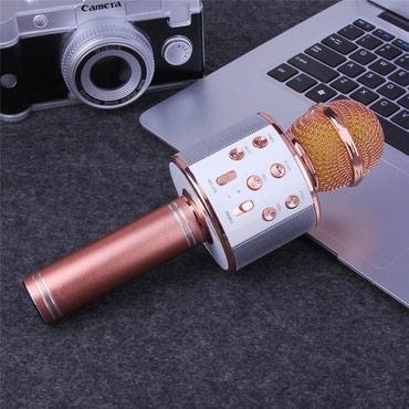 Mikrofonlar Azərbaycanda: Karaoke mikrofon  Catdirilma var kart gedir ses effektleri var