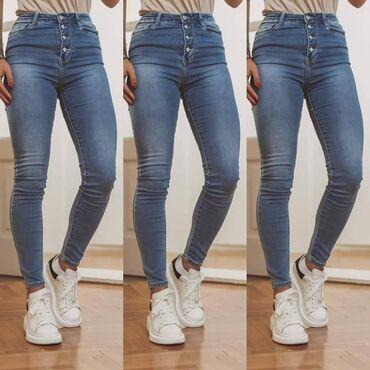 Ženska odeća | Rumenka: Novi hit model farmerica sa elastinom Velicine od XS do XLCena: 2500