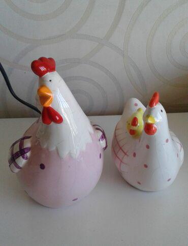 Продаётся счастливая креативная керамическая семья (петух, курица и