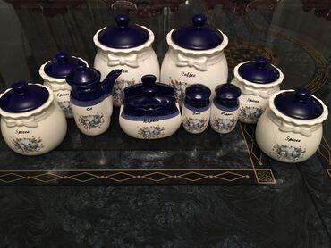 занавески в кухню в Кыргызстан: Нарядный столовый набор для сыпучих Siter high grade