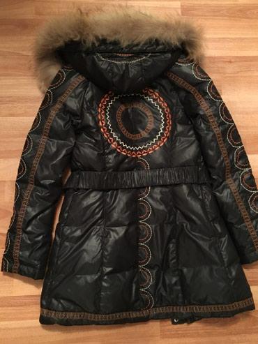 зимние развлечения в Азербайджан: Зимний пуховик, натуральный съемный мех, наполнитель пух, размер S, оч