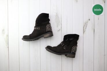 Жіночі замшеві черевики з металевим дизайном, р. 40    Довжина підошви