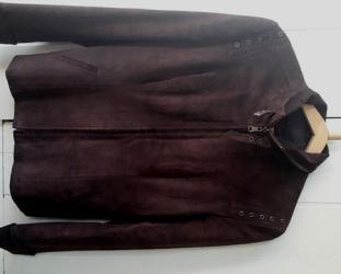 замшевые куртки в Кыргызстан: Замшевая куртка-пиджак. Размер 48. 500 сом