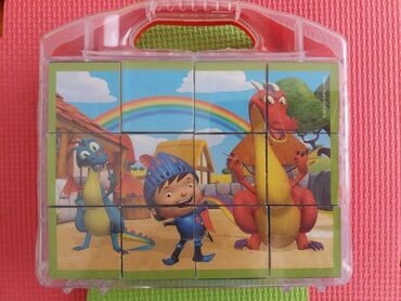 Παιχνίδια - Ελλαδα: Παζλ clementoni 12 ξυλινοι κυβοι σε βαλιτσακι