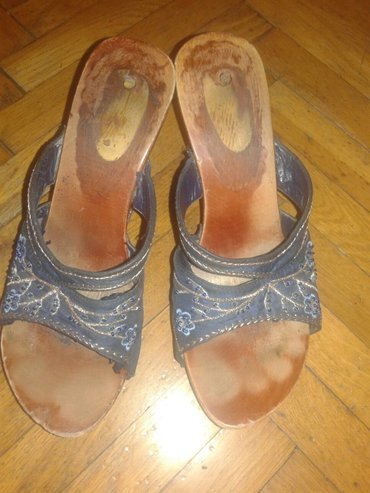 Papuce su platno drvo,udobne, nosene u solidnom stanju.br.38. - Valjevo