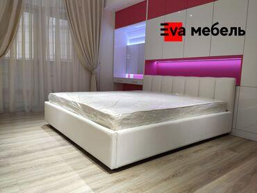 Кровати - Кыргызстан: КроватьМягкая кровать.Двуспального кровать.Строгий, сдержанный, но