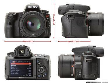 Фото и видеокамеры - Кыргызстан: Продаю камеру sony a37 + объектив tamron 18-200тип
