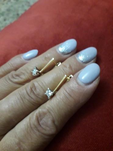 цена золота бишкек в Кыргызстан: Серьги с бриллиантом . Россия, жёлтое золото.новые это классика.цена