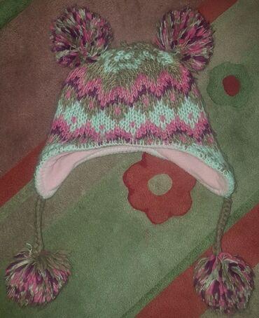 Zimske - Srbija: WAIKIKI debela zimska kapa za devojcice oko 4-6 godina. Obim 50