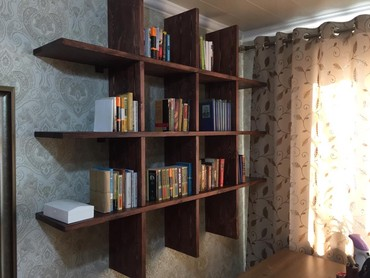 изготовление книги в Кыргызстан: Изготовление стеллажей для книг из дерева