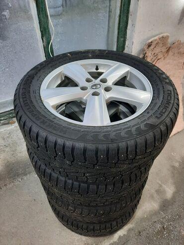 штампованные диски r15 цена в Кыргызстан: Б/у комплект, зимняя, шипы Toyota, Lexus 255/55/18 цена 650$ тел