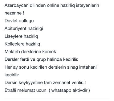 artropant kremi azerbaycan - Azərbaycan: Azerbaycan dili muellim