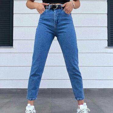- Azərbaycan: Mavi klassik mom jeans 27 razmer