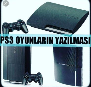Bakı şəhərində Playstation 3 oyunların yazilmasi