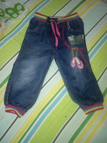 Dečija odeća i obuća - Knjazevac: Pantalone br 2 za devojcicu, kao nove, obucene par puta