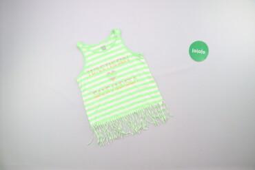 Топы и рубашки - Киев: Підлітковий смугастий топ з бахромою, 134 см    Колір зелений, білий З
