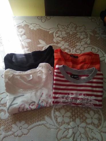 Cetiri-majice - Srbija: Cetiri majice kao nove,velicina 12. Sve za 400