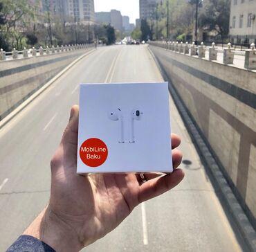 Apple Airpods 2 wirelles Premium Class-55AznYüksək səs effekti və şarj