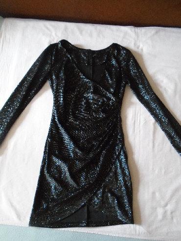 Svaku priliku haljina - Srbija: Prelepa crna svetlucava (šljokičasta) haljina, jednom obučena