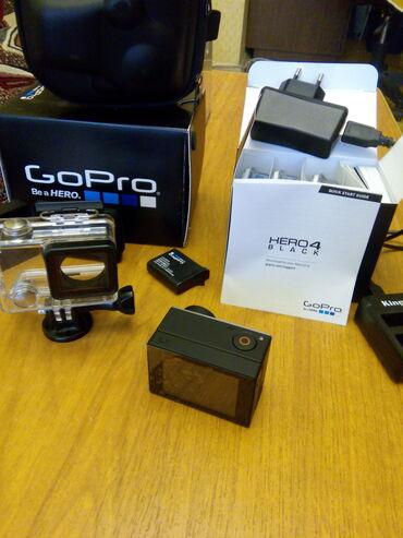 go pro hero 3 в Кыргызстан: Экшн камера GoPro hero 4 black. Всё в отличном и рабочем состоянии.1)