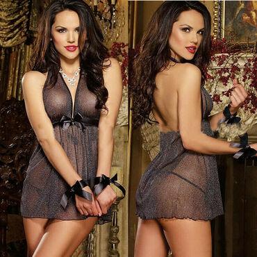 Duga haljina od cipke - Srbija: Sexy ves-crna haljina-SBa13Sexy crna haljina protkana srebrnim