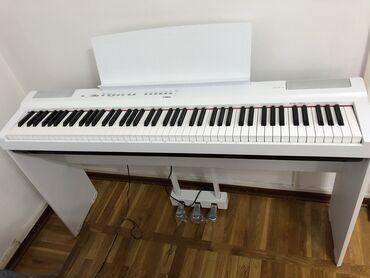 yamaha-пианино-купить в Кыргызстан: Белое Пианино Yamaha, новое