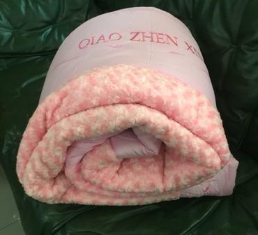 двуспальное одеяло из шерсти в Кыргызстан: Одеяло с наполнением из бамбука придаст вашей кровати мягкости и