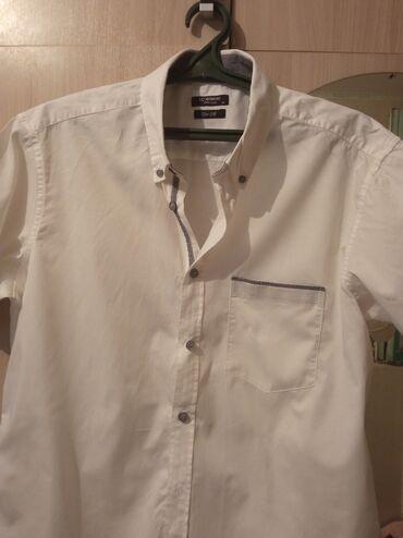 платье рубашка в пол в Кыргызстан: Белоснежная в мелкую нежную полоску мужская рубашка. Покупали в LC