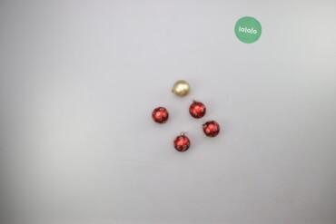 Дом и сад - Украина: Новорічні ялинкові прикраси кульки   Кількість: 5 шт. Діаметр: 5 см  С