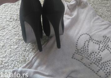 Nove crne cipele sa otvorenim prstima kupljene u deichhman-u. - Novi Sad